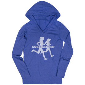 Women's Running Lightweight Performance Hoodie - Sole Sister Silhouettes