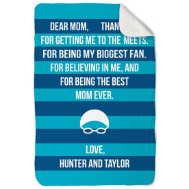 Swimming Sherpa Fleece Blanket - Dear Mom Heart