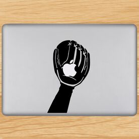 In The Glove Softball Removable ChalkTalkGraphix Laptop Decal