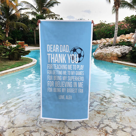 Soccer Premium Beach Towel - Dear Dad
