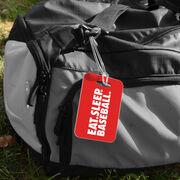 Baseball Bag/Luggage Tag - Eat Sleep Baseball