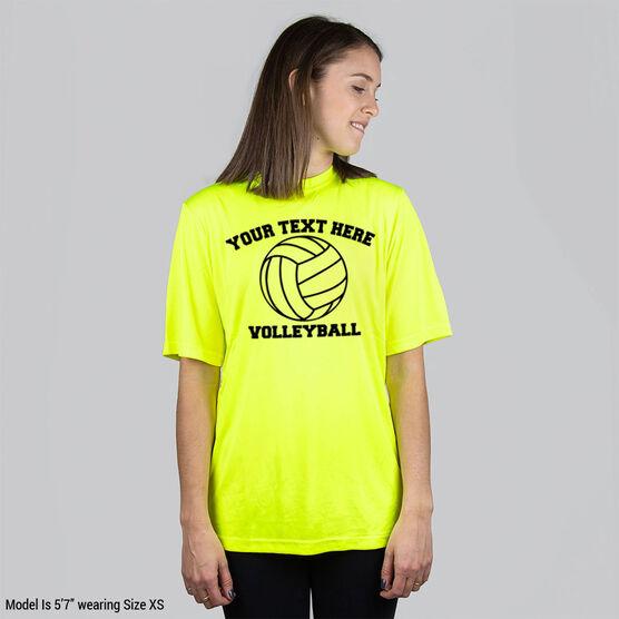 Volleyball Short Sleeve Performance Tee - Custom Volleyball