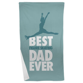 Figure Skating Beach Towel Best Dad Ever