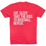 Baseball Short Sleeve T-Shirt - Eat Sleep Take The Kids To Baseball