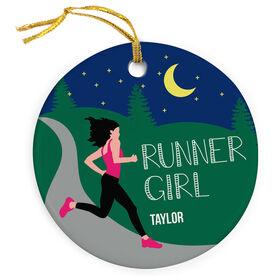 Running Porcelain Ornament Runner Girl