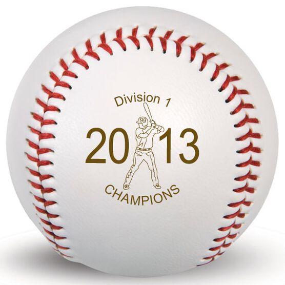 Baseball Player Laser Engraved Baseball