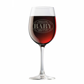 Personalized Wine Glass - Congrats Baby
