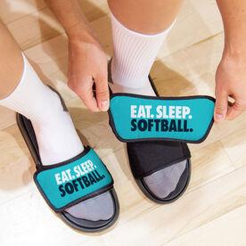 Softball Repwell® Slide Sandals - Eat. Sleep. Softball.