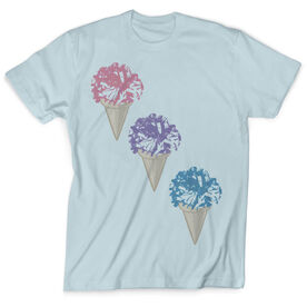 Vintage Cheerleading T-Shirt - Cheerleaders Scream For Ice Cream
