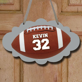 Football Cloud Sign Personalized Football Photo