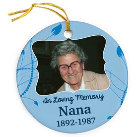 Personalized Porcelain Ornament - In Loving Memory