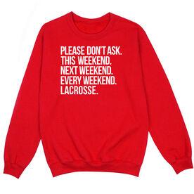 Lacrosse Crew Neck Sweatshirt - All Weekend Lacrosse