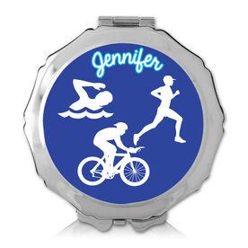 Personalized Triathlete Color Compact Mirror