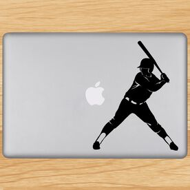 Softball Batter Removable ChalkTalkGraphix Laptop Decal
