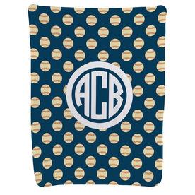 Baseball Baby Blanket - Baseball Pattern