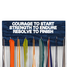 Hooked On Medals Hanger Courage To Start