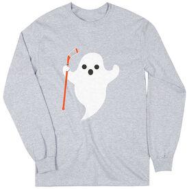 Hockey Tshirt Long Sleeve Hockey Ghost