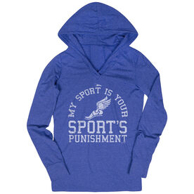 Women's Cross Country Lightweight Performance Hoodie My Sport Is Your Sports Punishment (Athletic)