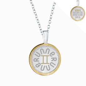 Gemini Zodiac Runner Charm Necklace