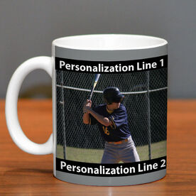 Baseball Coffee Mug Custom Photo with Color