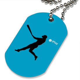 iPlay Baseball Printed Dog Tag Necklace