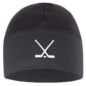 Beanie Performance Hat - Crossed Hockey Sticks