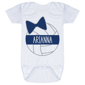 Volleyball Baby One-Piece - Personalized Volleyball Bow