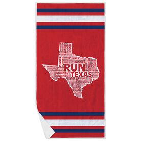 Running Premium Beach Towel - Texas State Runner