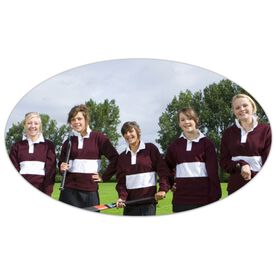 Field Hockey Oval Car Magnet Your Photo