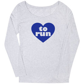 Women's Runner Scoop Neck Long Sleeve Tee Heart To Run