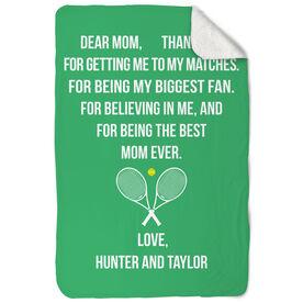 Tennis Sherpa Fleece Blanket - Dear Mom Heart