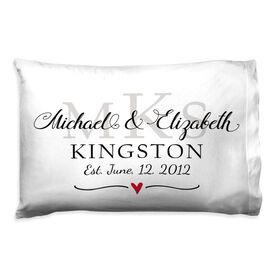 Personalized Pillowcase - Monogram Wedding Anniversary