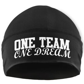 Run Technology Beanie Performance Hat - One Team One Dream (White)