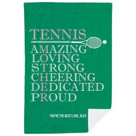 Tennis Premium Blanket - Mother Words