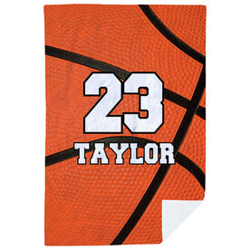 Basketball Premium Blanket - Personalized Big Number