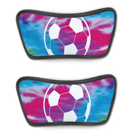 Soccer Repwell® Sandal Straps - Tie-Dye Pattern With Soccer Ball