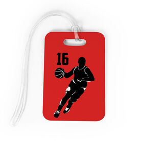 Basketball Bag/Luggage Tag - Personalized Male Player