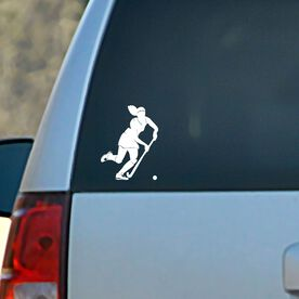 Vinyl Car Decal Field Hockey Girl Dribbling