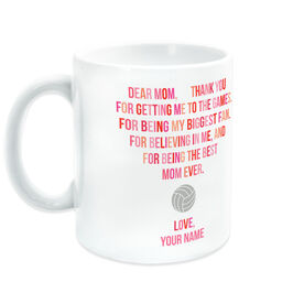 Volleyball Coffee Mug - Dear Mom Heart