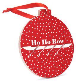 Crew Round Ceramic Ornament - Ho Ho Row