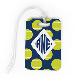 Tennis Bag/Luggage Tag - Personalized Tennis Pattern Monogram