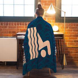 Swimming Premium Blanket - Personalized Team