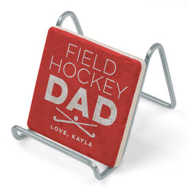 Field Hockey Stone Coaster - Personalized Field Hockey Dad