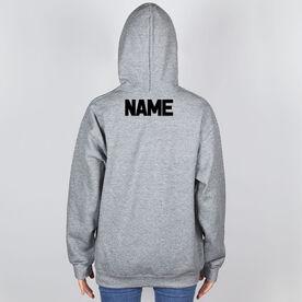 Cross Country Hooded Sweatshirt - Winged Foot Inspirational Words
