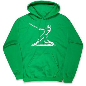 Baseball Hooded Sweatshirt - Baseball Player
