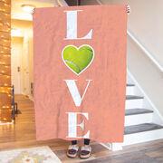 Tennis Premium Blanket -  LOVE with Ball