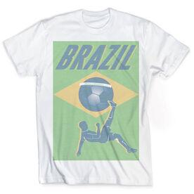 Vintage Soccer T-Shirt - Brazil Soccer