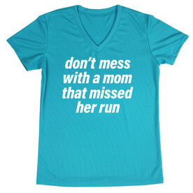 Women's Short Sleeve Tech Tee - Don't Mess With A Mom