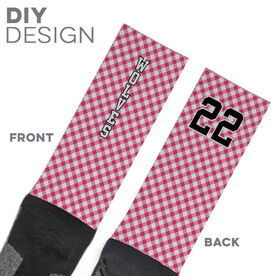 Printed Mid-Calf Socks - Gingham Team
