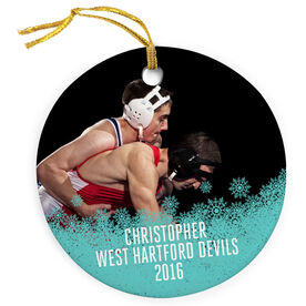 Wrestling Porcelain Ornament Your Photo Here